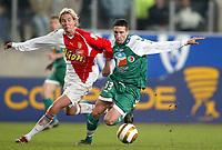 Fotball<br /> Frankrike 2004/05<br /> Ligacup<br /> Sedan v Monaco<br /> 9. november 2004<br /> Foto: Digitalsport<br /> NORWAY ONLY<br /> MORGAN AMALFITANO (SED) / JAROSLAV PLASIL (MON)