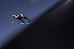 28.02.2019, Seefeld, AUT, FIS Weltmeisterschaften Ski Nordisch, Seefeld 2019, Skisprung, Herren, Qualifikation, im Bild Jonathan Learoyd (FRA) // Jonathan Learoyd of France during his Qualification Jump of men's Skijumping of FIS Nordic Ski World Championships 2019. Seefeld, Austria on 2019/02/28. EXPA Pictures © 2019, PhotoCredit: EXPA/ JFK