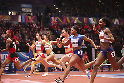 2018?3?2?.     ?????1???——????????60?????.        3?2??????????????????.        ????????????2018???????????60?????????7?35?????????????????.        ???????? .(SP) BRITAIN-BIRMINGHAM-TRACK AND FIELD-IAAF WORLD INDOOR CHAMPIONSHIPS DAY 2.(180302) -- LONDON, Mar. 2, 2018  Wei Yongli (3rd R) of China competes in the women's 60 metres round 1 match during the IAAF World Indoor Championships at Arena Birmingham in Birmingham, Britain on Mar. 2, 2018. (Credit Image: © Han Yan/Xinhua via ZUMA Wire)