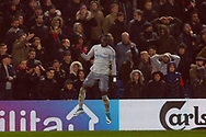 Oumar Niasse of Everton (L) celebrates after scoring his team's second goal.Premier League match, Crystal Palace v Everton at Selhurst Park in London on Saturday 18th November 2017.<br /> pic by Steffan Bowen, Andrew Orchard sports photography.