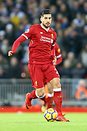 Emre Can of Liverpool in action. Premier League match, Liverpool v Leicester City at the Anfield stadium in Liverpool, Merseyside on Saturday 30th December 2017.<br /> pic by Chris Stading, Andrew Orchard sports photography.