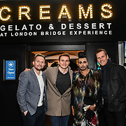 Chris Shannon, Harry Kersley, Mr Fabulous - Jay Kamiraz and Georg Torman attend BBC1 All Together Now Series 1 Cast Members, fright night at The London Bridge Experience & London Tombs on 28 October 2018, London, UK.