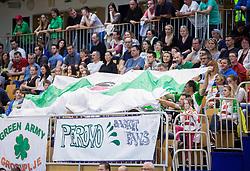 Fans of Grosuplje during basketball match between KK Grosuplje and KK Union Olimpija Ljubljana in 2nd Leg of Quarterfinals of Telemach League 2013/14, on May 6, 2014 in Grosuplje, Slovenia. Photo by Vid Ponikvar / Sportida