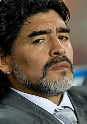 27-06-2010 VOETBAL: FIFA WORLDCUP 2010 ARGENTINIE - MEXICO: JOHANNESBURG <br /> Coach of Argentina Diego Maradona.  <br /> ©2010-FRH- NPH/ MVid Ponikvar (Netherlands only)