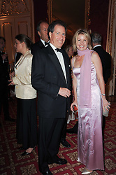 VISCOUNT & VISCOUNTESS LINLEY at a dinner hosted by HRH Prince Robert of Luxembourg in celebration of the 75th anniversary of the acquisition of Chateau Haut-Brion by his great-grandfather Clarence Dillon held at Lancaster House, London on 10th June 2010.