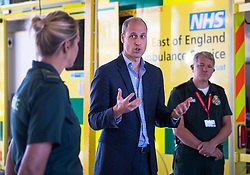 The Duke of Cambridge visits King's Lynn Ambulance Station and meets with paramedics and staff from the East of England Ambulance Service Trust in King's Lynn, Norfolk, UK, on the 16th June 2020. Picture by: Victoria Jones/WPA-Pool. 16 Jun 2020 Pictured: Prince William, Duke of Cambridge. Photo credit: MEGA TheMegaAgency.com +1 888 505 6342