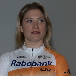 13-01-2016: Wielrennen: Presentatie Rabo wielerploegen: Papendal<br />PAPENDAL (NED) wielrennen<br />Het Rabobank-Liv vrouwenteam en het Developmentteam werden op Papendal voorgesteld. Roxane Kneteman
