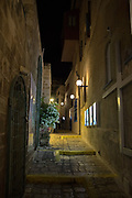Old Jaffa Alley at night