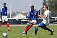 Fotball<br /> Privatlandskamp U 21<br /> Frankrike v Slovakia<br /> 8. september 2004<br /> Foto: Digitalsport<br /> NORWAY ONLY<br /> YOANN FOLLY (FRA) / IGOR ZOPEAK (SLO)
