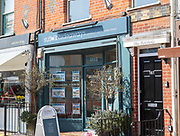 Suffolk Hideaways holiday home rental company shop, Aldeburgh, Suffolk, England, UK