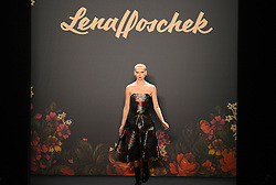 A model presents a creation by Austrian designer Lena Hoschek during the Autumn/Winter 2013 shows of the Mercedes-Benz Fashion Week, in Berlin, Germany, Jan. 15, 2013. The Berlin Fashion Week takes place here from Jan. 15 to 20, 2013,  January 15, 2013. Photo by Imago / i-Images...UK ONLY