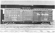 Box car #3698.<br /> D&RGW    ca 1947