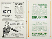 All Ireland Senior Hurling Championship Final, .Brochures,.05.09.1943, 09.05.1943, 5th September 1943, .Antrim 0-4, Cork 5-16,.Minor Dublin v Kilkenny, .Senior Antrim v Cork, .Croke Park, ..Advertisements, Hoyte & Son LTD., Foillseacain Rialtais Books in Irish for Everyone, Madame Nora Ltd. Hosiery Specialists, Irish National Insurance Co. Ltd., New Ireland Assurance Co. Ltd.,