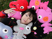 pvc101811e/10-18-11/ss.  Neecy Twinem (CQ), the zookeeper and owner of Zombiezoo, poses for a portrait with her creations, photographed Tuesday Oct. 18, 2011.  (Pat Vasquez-Cunningham/Journal)