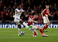 Jermain Defoe of Sunderland in action with Adam Forshaw of Middlesbrough during the English Premier League match at Riverside Stadium, Middlesbrough. Picture date: April 26th, 2017. Pic credit should read: Jamie Tyerman/Sportimage