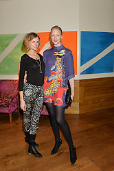 Left to right, JACQUETTA WHEELER and JADE PARFITT at a screening of the short film The Chase hosted by Jade Parfitt at The Soho Hotel, 4 Richmond Mews, Soho, London on 22nd February 2015.