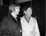 Actors Shirley MacLaine and Burgess Meredith on a visit to Ireland. MacLaine has had a long and successful career, being nominated five times for an Academy Award before winning for her role in 'Terms of Endearment'. Actor and Director Meredith had numerous film and television roles, including a much acclaimed portrayal of The Penguin in the TV series of 'Batman'. He received a Tony nomination for his 1974 Broadway staging of 'Ulysses in Nighttown'. <br /> 17/06/1975