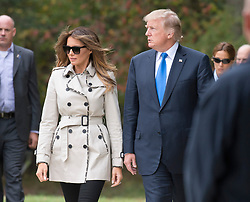 United States President Donald J. Trump and first lady Melania Trump tour the US Secret Service James J. Rowley Training Center in Beltsville, Maryland on Friday, October 13, 2017.<br /> (Photo by Ron Sachs/CNP/Sipa USA)