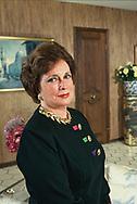 Jehan Sadat,wife of Anwar Sadat  in 1997<br />Photo by Dennis Brack