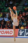 Martina Santandrea atleta della società Putinati di Ferrara durante la seconda prova del Campionato Italiano di Ginnastica Ritmica.<br /> La gara si è svolta a Desio il 31 ottobre 2015.