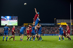 December 30, 2018 - Limerick, Ireland - Tadhg Beirne of Munster and James Ryan of Leinster fight for the ball during the Guinness PRO14 match between Munster Rugby and Leinster Rugby at Thomond Park in Limerick, Ireland on December 29, 2018  (Credit Image: © Andrew Surma/NurPhoto via ZUMA Press)