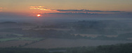 Sunrise from Beacon Hill on the Berkshire Downs near Highclere