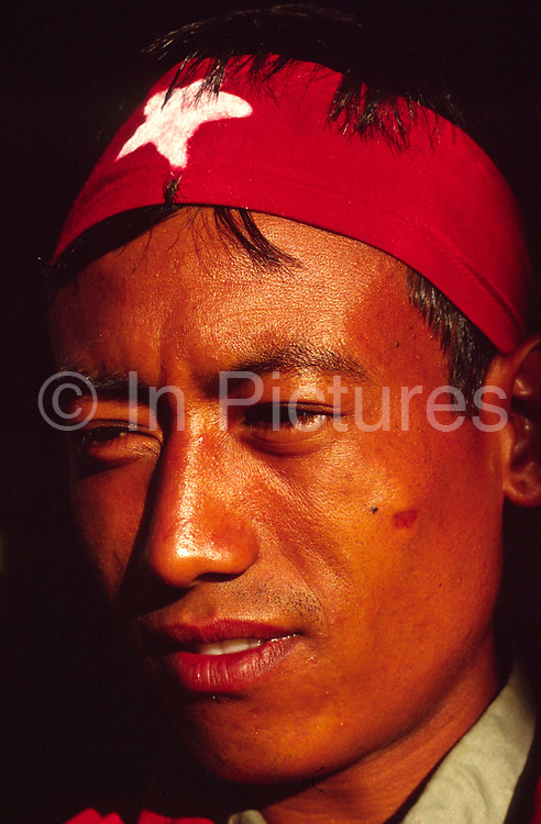 Maoist cadre at a rally in Dolakha, Nepal
