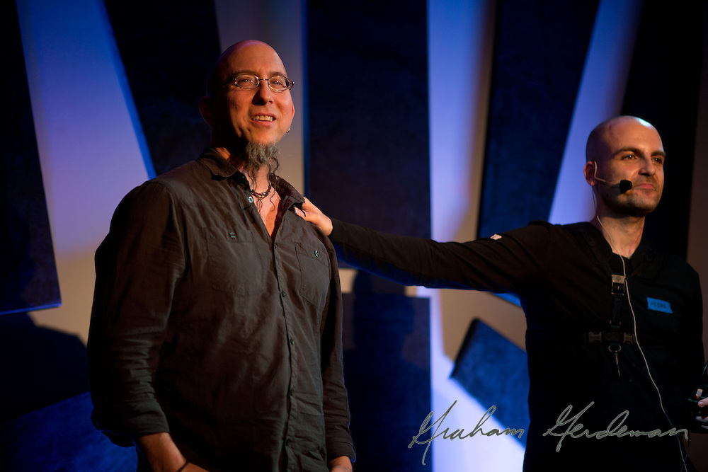Saxophone artists Pedro Saxo and Jeff Coffin  at 3rd and Lindsley Backstage in Nashville, TN.
