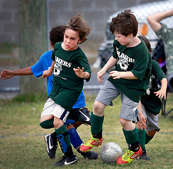 23 March 2013. New Orleans, Louisiana,  USA. .Carrolton Boosters Soccer. Under 8's. Quarter finals. The Soldiers win through over the Blasters. .Photo; Charlie Varley.