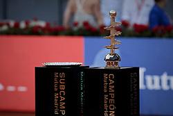 May 12, 2019 - Madrid, Madrid, Spain - Mutua Madrid Open Masters final match trophy seen at Caja Magica in Madrid..Novak Djokovic beats Stefanos Tsitsipas. (Credit Image: © Legan P. Mace/SOPA Images via ZUMA Wire)