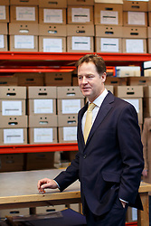 © licensed to London News Pictures. London, UK 02/12/2013. Deputy Prime Minister Nick Clegg visiting Fashionizer, a small fashion studio in west London to meet with small business owners ahead of the autumn statement. Photo credit: Tolga Akmen/LNP