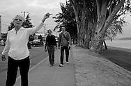 2011 September 14 - A woman gestures near Alki Beach, Seattle, WA, USA. Copyright Richard Walker
