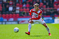 Kieran Sadlier of Doncaster Rovers (22) in action during the EFL Sky Bet League 1 play off first leg match between Doncaster Rovers and Charlton Athletic at the Keepmoat Stadium, Doncaster, England on 12 May 2019.