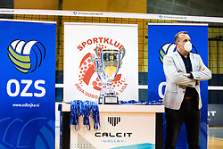 Metod Ropret, president of OZS, during 3rd Leg Volleyball match between Calcit Volley and Nova KBM Maribor in Final of 1. DOL League 2020/21, on April 17, 2021 in Sportna dvorana, Kamnik, Slovenia. Photo by Matic Klansek Velej / Sportida