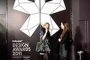 ANNA ROSA THOMAR; CHLOE HEWITT, Wallpaper  Design Awards in partner ship with aSton Martin. The Edison, 223-231 Old Marylebone Road, London. 12 January 2011. . This year it is in partnership with Aston Martin.-DO NOT ARCHIVE-© Copyright Photograph by Dafydd Jones. 248 Clapham Rd. London SW9 0PZ. Tel 0207 820 0771. www.dafjones.com.