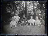 France ca 1920s Family glass plates