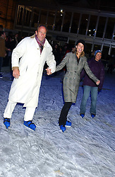 INDIA HICKS and DAVID FLINT WOOD at the opening of the Natural History Museum's Ice Rink on 16th November 2005.<br />