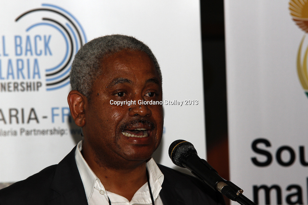 DURBAN - 9 October 2013 - Dr Frew Benson, the chief directtor for communicable diseases in South Africa's department of health speaks at a press conference where it was announced that South Africa aims to be malaria free by 2018. Picture: Allied Picture Press/APP