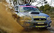 Cody Crocker and Greg Foletta, ss21.Rally of South Australia.1/8/2004, South Australia.2004 Australian Rally Championships.© Sport the library / Paul Kane