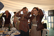 Viscountess Windsor and Princess Khatani. . Ludlow Charity Race Day,  in aid of Action Medical Research. Ludlow racecourse. 24 march 2005. ONE TIME USE ONLY - DO NOT ARCHIVE  © Copyright Photograph by Dafydd Jones 66 Stockwell Park Rd. London SW9 0DA Tel 020 7733 0108 www.dafjones.com