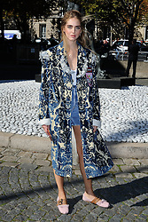 Chiara Ferragni attending the Miu Miu show as a part of Paris Fashion Week Ready to Wear Spring/Summer 2017 in Paris, France on October 05, 2016. Photo by Aurore Marechal/ABACAPRESS.COM