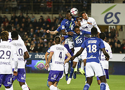 November 3, 2018 - Strasbourg, France - Kone Lamine-Gueye 5 (RCS), during the French Ligue 1 football match between Strasbourg (RCSA) and Toulouse (TFC) on November 3, 2018 at the Meinau stadium in Strasbourg, eastern France. (Credit Image: © Elyxandro Cegarra/NurPhoto via ZUMA Press)