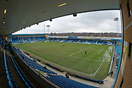 General view (GV) inside the Priestfield  Stadium  during the EFL Sky Bet League 1 match between Gillingham and Scunthorpe United at the MEMS Priestfield Stadium, Gillingham, England on 16 February 2019.