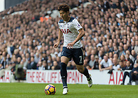 Football - 2016 / 2017 Premier League - Tottenham Hotspur vs. Leicester City<br /> <br /> Son Heung-Min of Tottenham at White Hart Lane.<br /> <br /> COLORSPORT/DANIEL BEARHAM