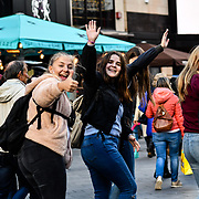 Westend life's street photography at Leicester Square, London, UK