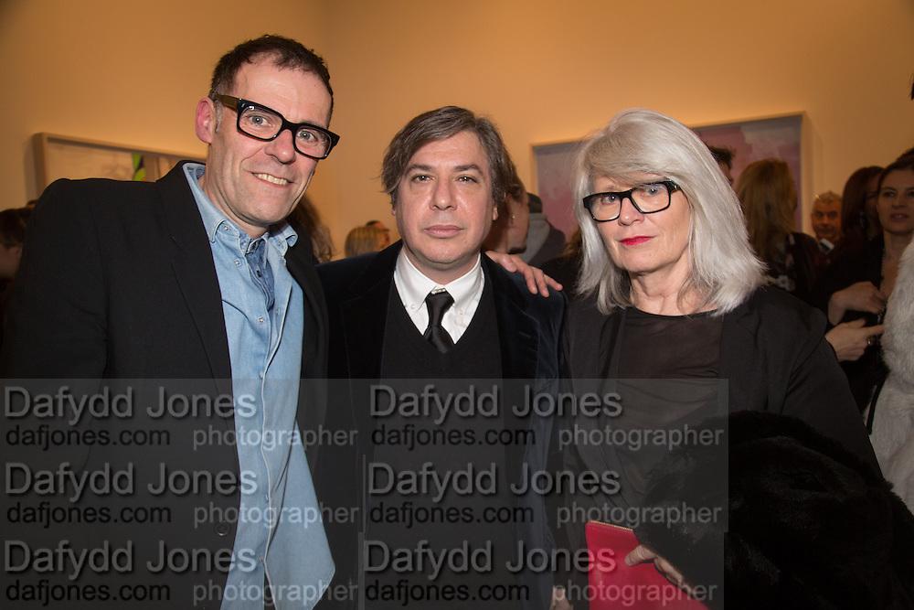 DEXTER DALWOOD; GEORGE CONDO; MONIKA SPRUTH, George Condo - private view . Simon Lee Gallery, 12 Berkeley Street, London, 10 February 2014