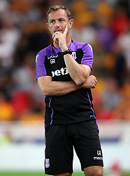 Stoke City Manager Gary Rowett during a pre season friendly match at The Bet365 Stadium, Stoke.