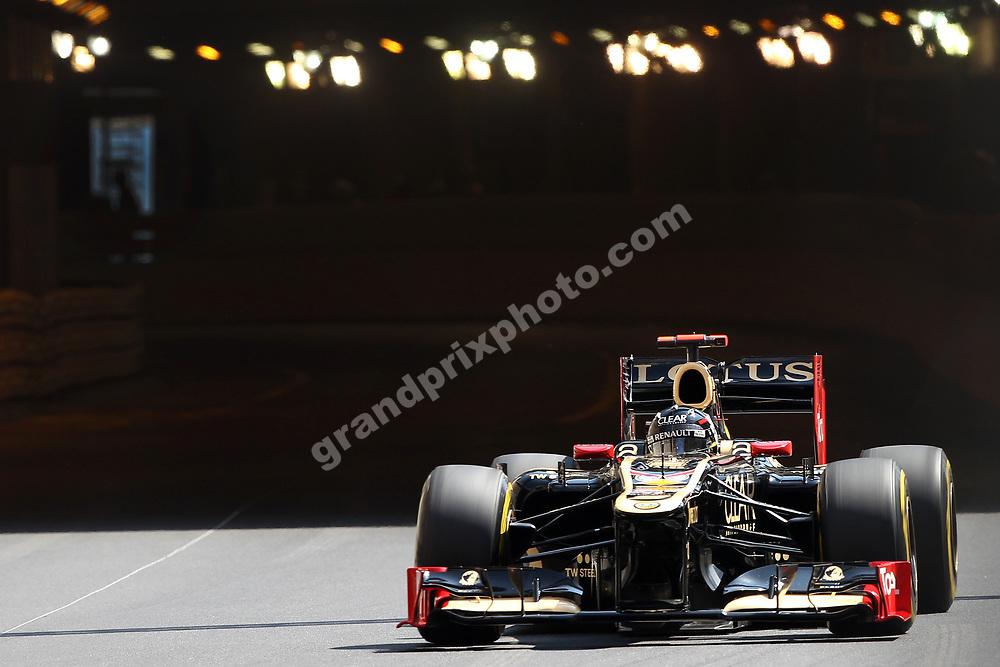 Kimi Raikkonen (Lotus-Renault) during practice for the 2012 Monaco Grand Prix. Photo: Grand Prix Photo
