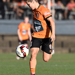 BRISBANE, AUSTRALIA - OCTOBER 30: Katrina Gorry of the Roar controls the ball during the round 1 Westfield W-League match between the Brisbane Roar and Sydney FC at Spencer Park on November 5, 2016 in Brisbane, Australia. (Photo by Patrick Kearney/Brisbane Roar)