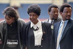 16/04/1990<br />Nelson Mandela: An International Tribute for a Free South Africa Concert at Wembley Stadium<br />Winnie Mandela and Jesse Jackson / action press